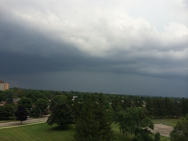 stormy afternoon Kitchener, Ontario Canada