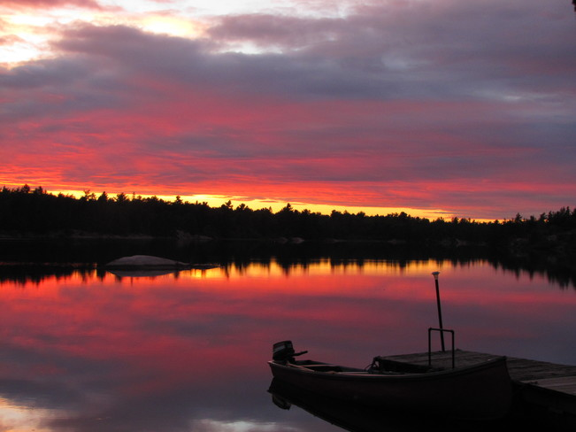 Beauty Sunsets on D'aoust Lake French River, Ontario