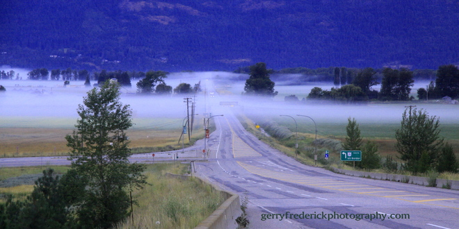 Early morning fog near Creston B.C. Cranbrook, BC