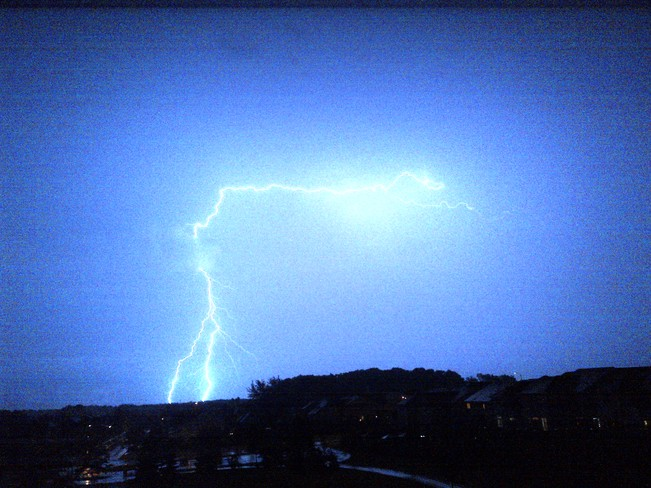 Lightning Southern Ontario July 27th Oshawa