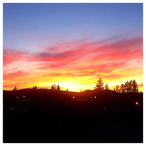 the sky is on fire Cranbrook, British Columbia Canada