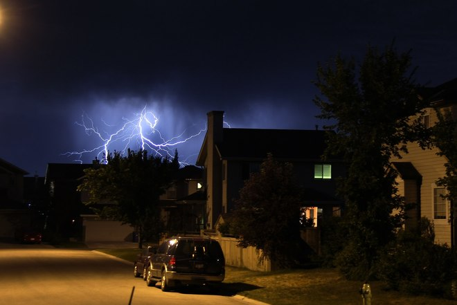 Lighting over Calgary 37 Chaparral Valley Court, Calgary, AB T2X 0M3, Canada