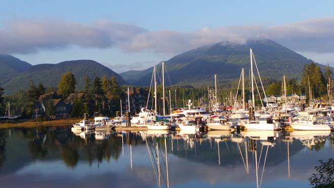 Tranquil Harbour Waiting for the Next Day's Big Gain Ucluelet Harbour, Ucluelet, BC