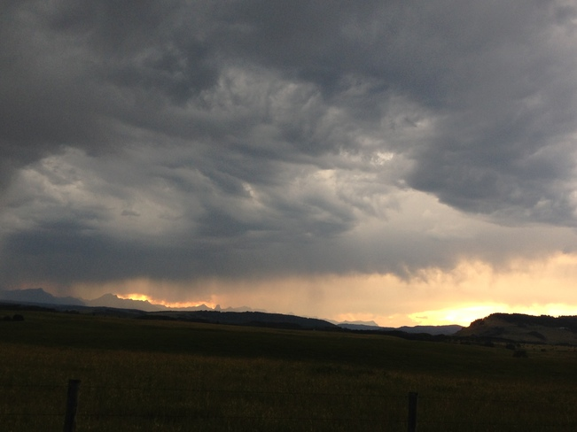 Storm near the Rocky Mountains. Cochrane, Alberta