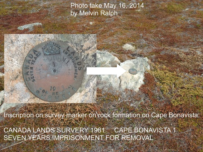 Survey Marker Bonavista, Newfoundland and Labrador Canada