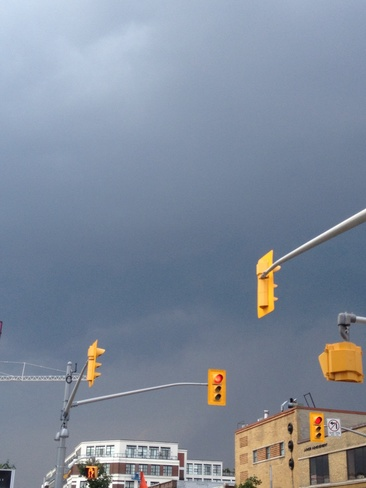 Dark clouds moving in fast! Kitchener, Ontario Canada
