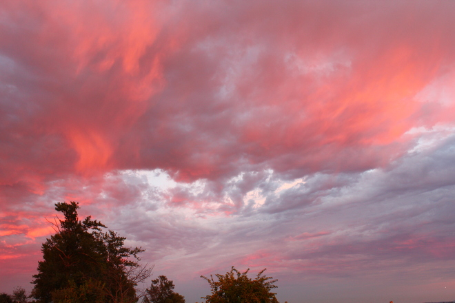 First Day of August 2014 Sunset Richmond, British Columbia