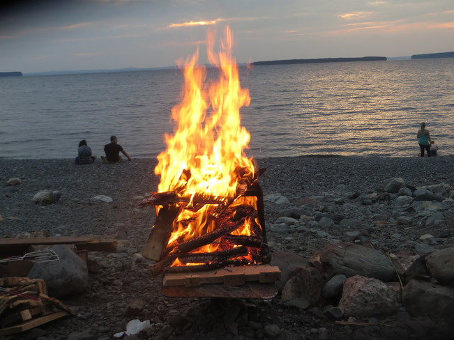 A fire on Topsail Beach Mount Pearl, Newfoundland and Labrador Canada