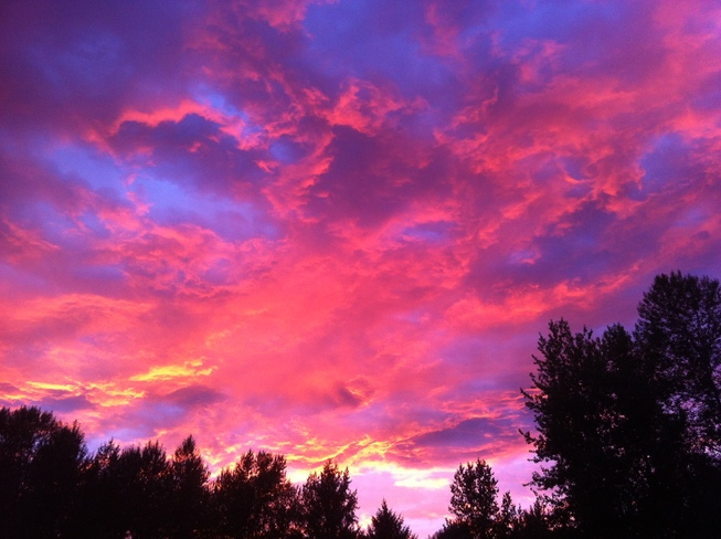 The sky is more exciting than the Movie Aldergrove, Langley, BC