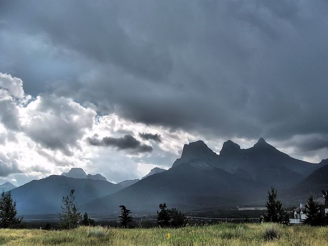 Three Sisters and Pigeon Mnt Canmore, AB