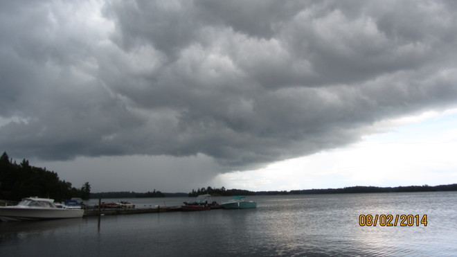 Approaching storm - Paradise Point - Lake of the Woods - Ontario 2nd August 2014 Lake of the Woods, Sioux Narrows Nestor Falls