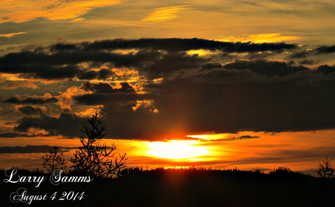 """Sunset Aug. 4"" Springdale, Newfoundland and Labrador Canada"