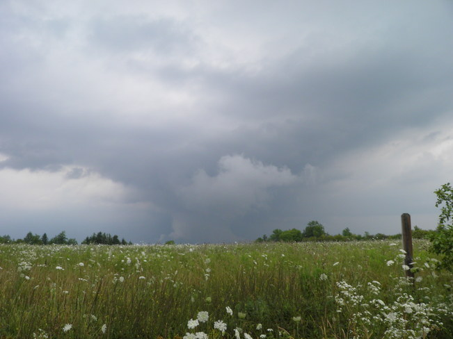 Burlington storm seen from Eramosa Karst Conservation Area Stoney Creek, Ontario