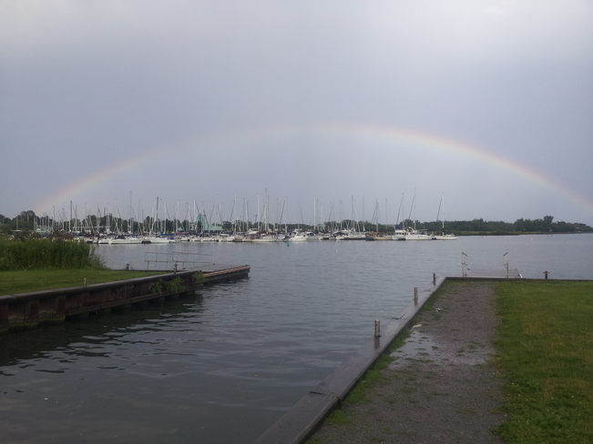 Rainbow over Whitby Marina Whitby, ON