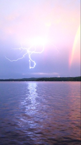 Lightening Strike & Rainbow combo Dwight, Lake of Bays, ON
