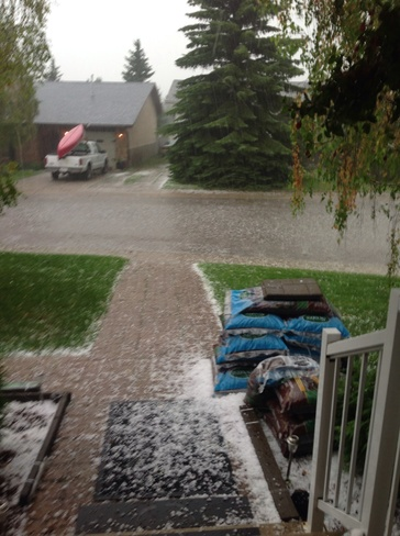 Hailstorm August 7, 2014 Red Deer, Alberta