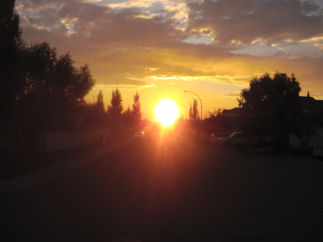 Amazing Sunset August 7, 2014 Edmonton, Alberta Canada