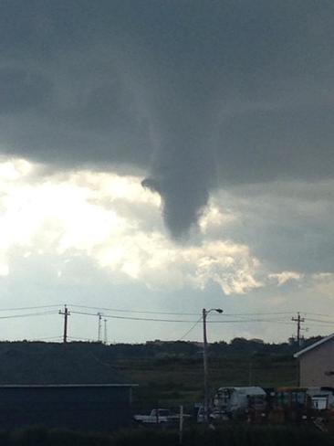 Funnel cloud in Glace Bay , Nova Scotia Glace Bay, Nova Scotia