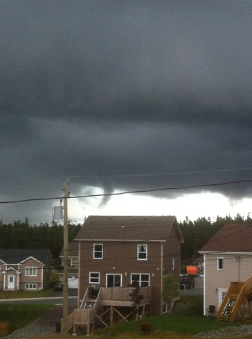 """Possible"" funnel cloud Paradise, Newfoundland and Labrador Canada"