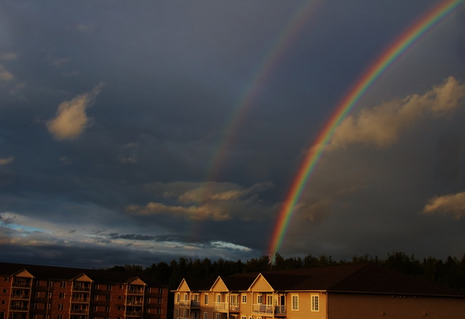 Double Rainbow Fredericton, New Brunswick Canada