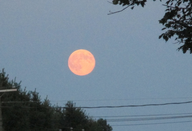 super moon Burton, NB