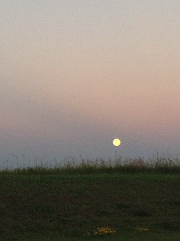 Full Moon Beaumont, Alberta Canada