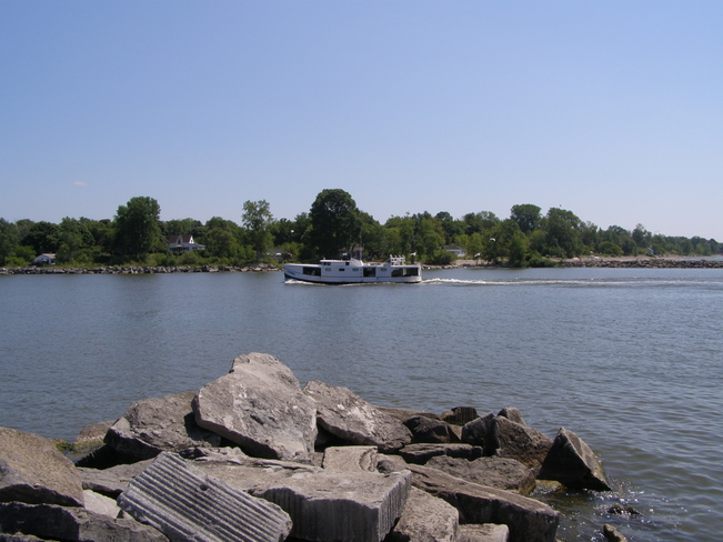 On a day of just enjoying the perfect summer day at the waterfront Port Maitland, Ontario