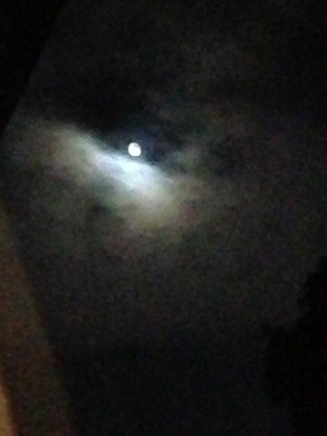The Moon in the clouds Caledonia, Ontario Canada