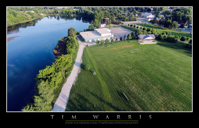 Silver Lake Park from above Port Dover, Ontario