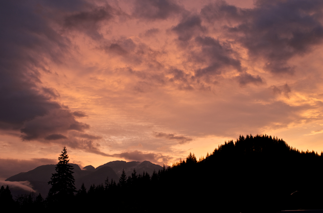 Sunset Sky with thick clouds before Thunderstorm - Squamish Squamish, BC