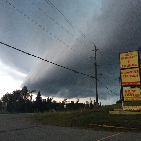 scary looking clouds Nipigon, Ontario Canada