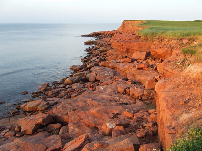The Red Shore of the cliffs of Eastern PEI East Point, PEI