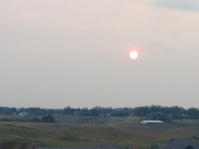 Beautiful orange sun tonight... Desert Blume, Alberta Canada
