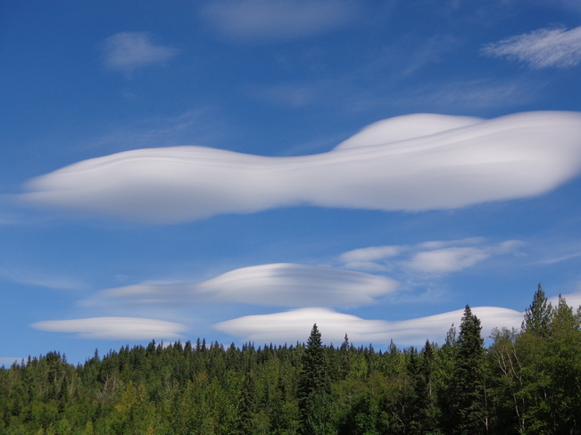 UFO clouds in the Pine Pass pine pass on highway 97 north british columbia