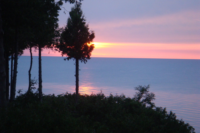 sunset glory Lake Huron