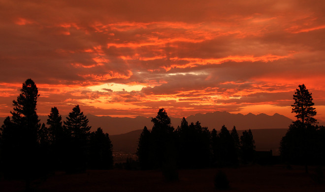 Stormy sunrise over the Rockies Cranbrook, BC