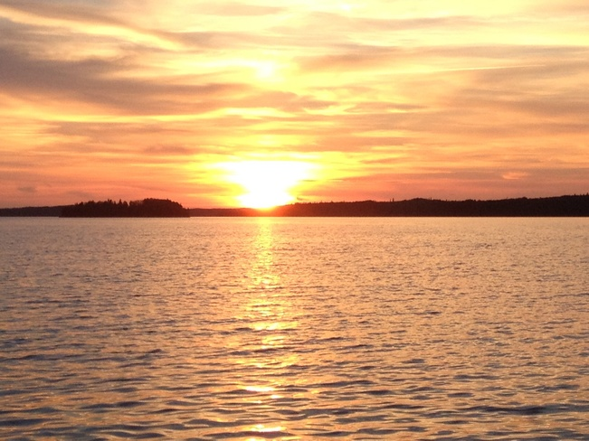 Sunset on Red Lake Balmertown, Ontario Canada