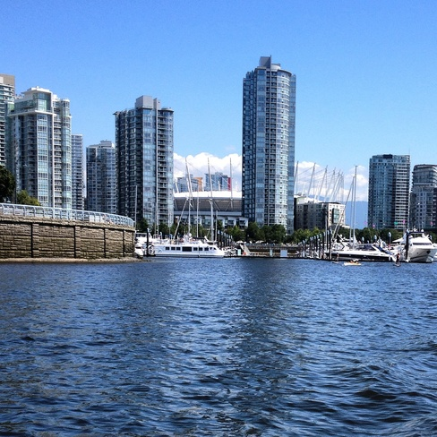 blue skies up high Vancouver, British Columbia Canada