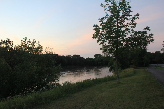 Pink Sky Over the Assiniboine Winnipeg, MB
