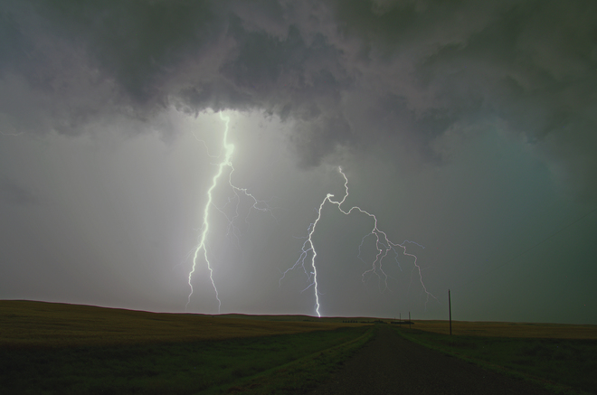 Another Southern Alberta electrical storm Taber, AB