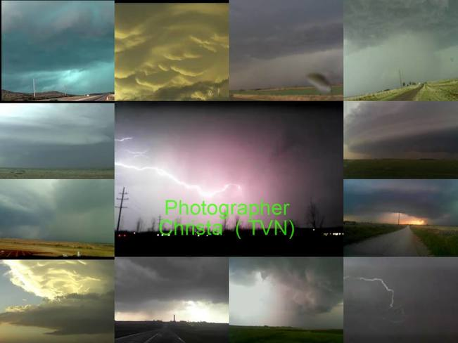 Shots of Storms i took from TVN Sherwood Park, AB