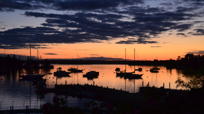 Sunset from Chester NS backharbour Chester nova scotia Canada