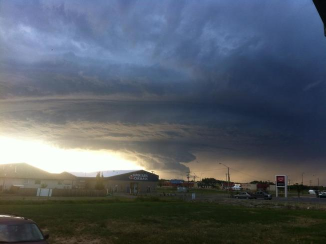 Wall Cloud over Stettler, AB Stettler, AB T0C2L1