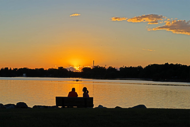 Serene Summer Sunset Lethbridge, Alberta Canada
