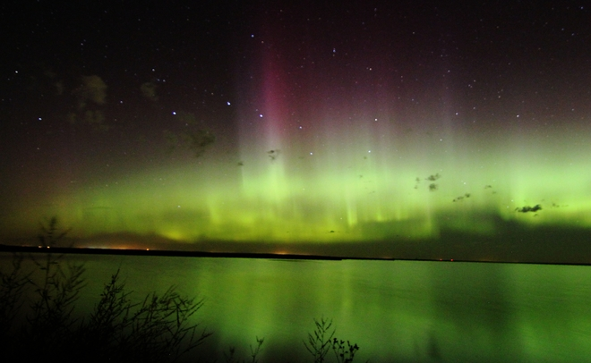 northern lights Brooks, AB