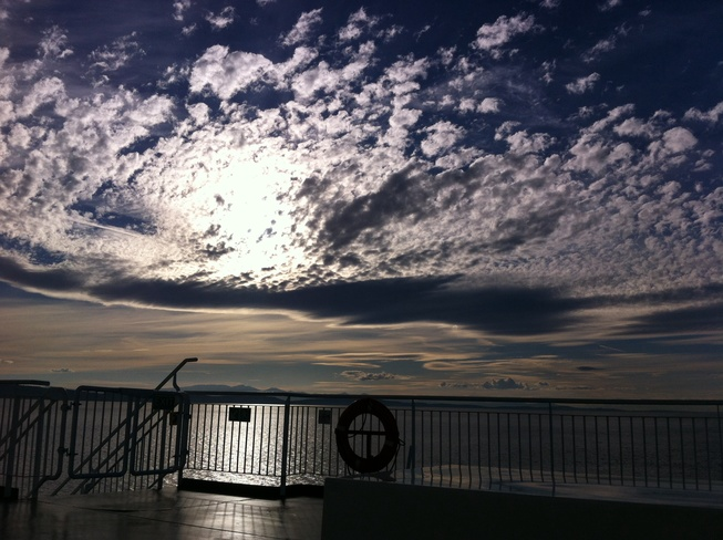 clouds bc ferry Vancouver, British Columbia Canada