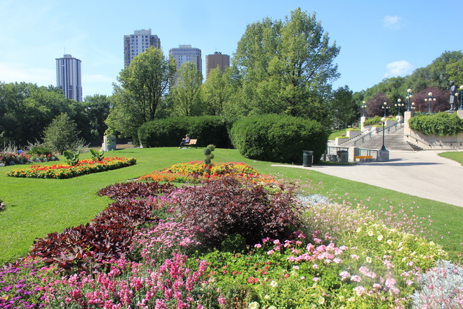 Manitoba Legislature Outdoor Flower Garden Winnipeg, MB
