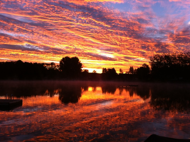 nice sunrise for long weekend Lake Rosalind Road 2, Hanover, ON
