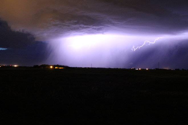 August 30th lightening Brooks, Alberta