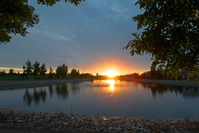 Fairmont Lake Sunrise Lethbridge, Alberta Canada